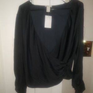 Black Crop Shirt